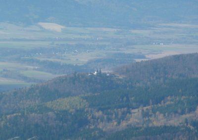 widok ze Śnieżnika - Sanktuarium na Górze Iglicznej - Maria Śnieżna